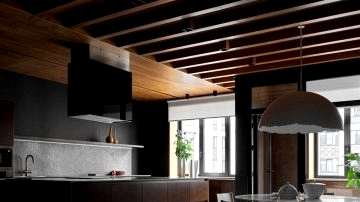 Another trendy Moscow condominium in darkish colours by Elena Gorenstein