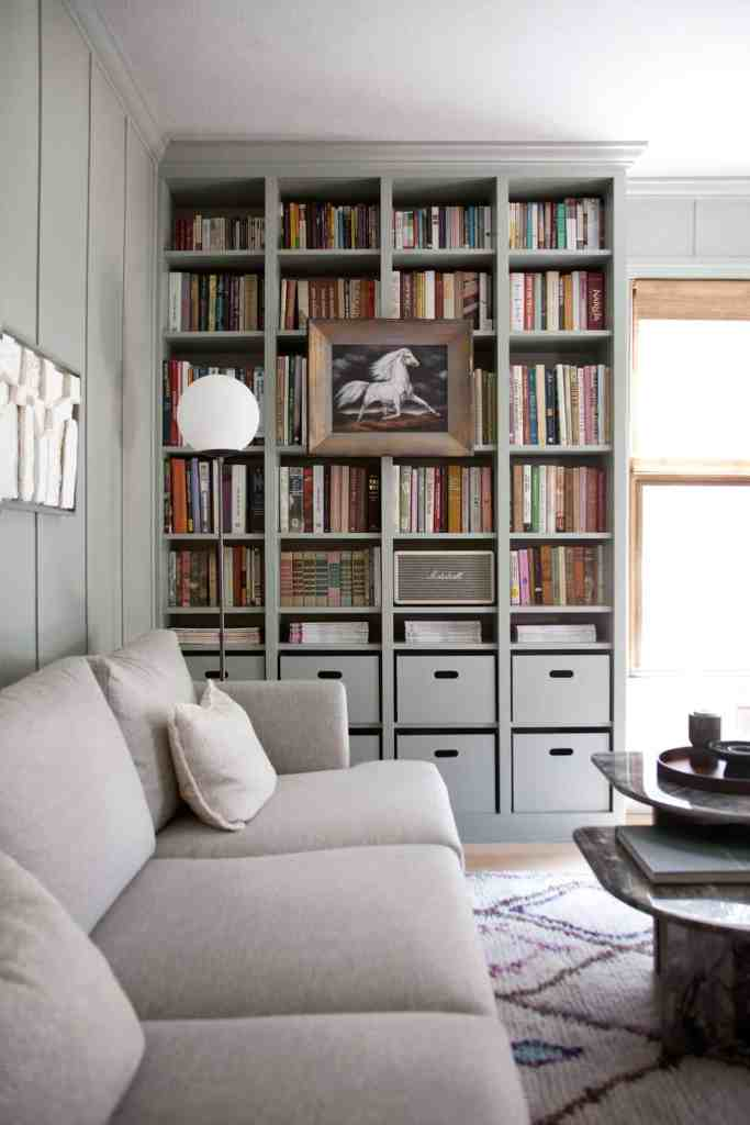 Get custom looking built-in bookcases without breaking the bank with these clever IKEA hacks.