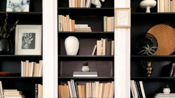 Constructed-In Bookcase IKEA Hacks