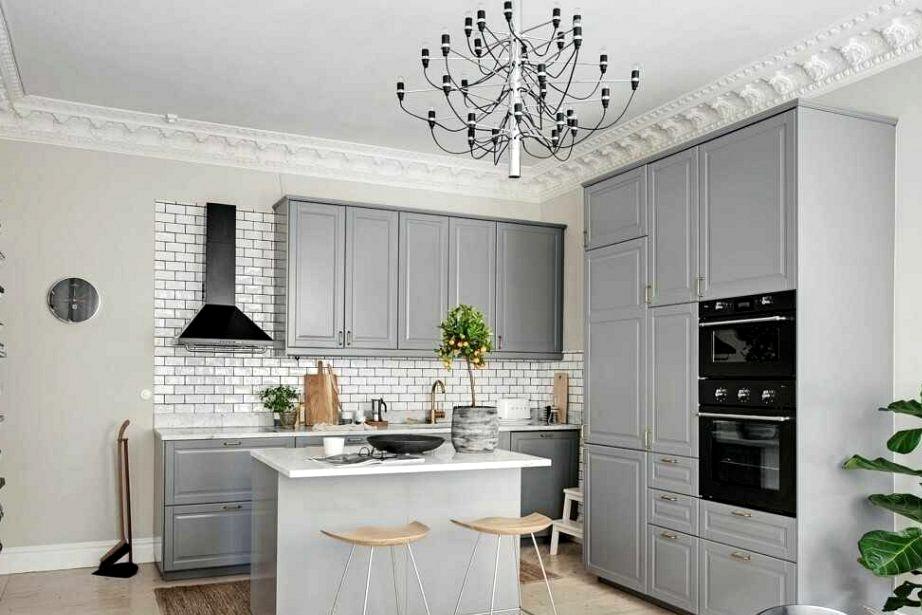 Grey Kitchen With Very Mild Island