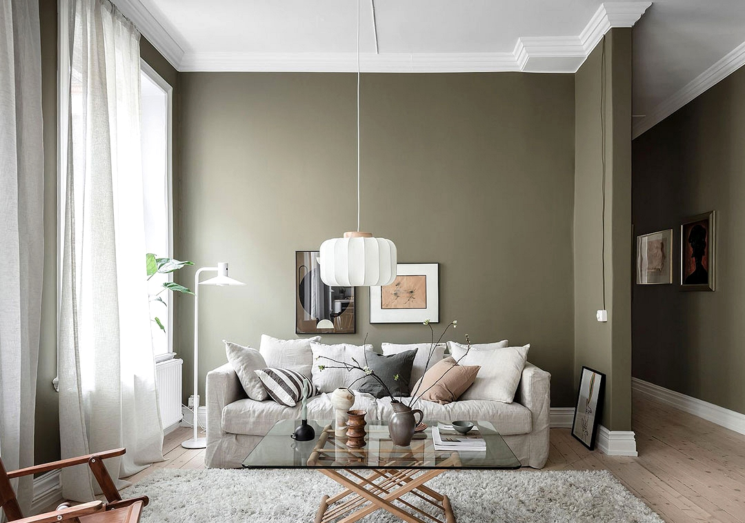Lovely inexperienced in design of cozy Swedish house (60 sqm)