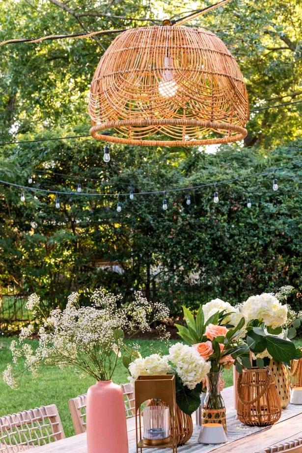 Inexpensive DIY outdoor lighting for your backyard.