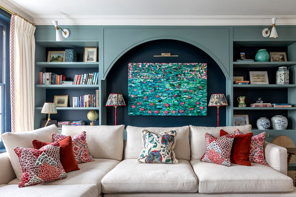 Stunning London townhouse with colourful decor for a pair from California