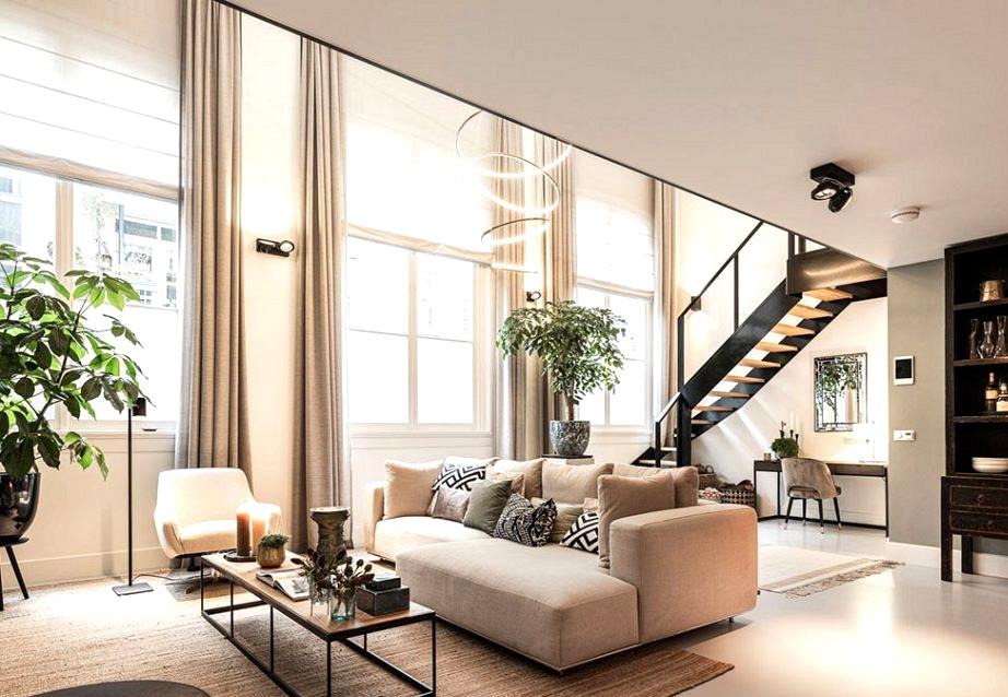 Elegant loft in former faculty constructing in Amsterdam