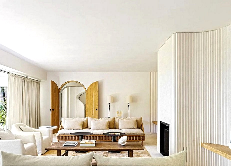 Fashionable Mediterranean design of a vacation house in southern Spain