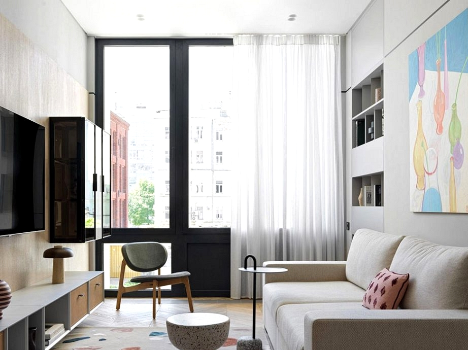 Trendy condominium in Moscow with loads of cupboard space (80 sqm)