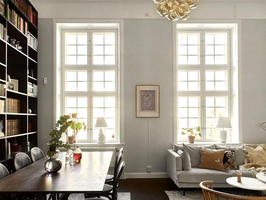 Scandinavian condominium with black residence libary (109 sqm)