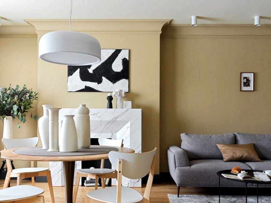 Price range residence in daring shades: rental residence in Moscow (100 sqm)