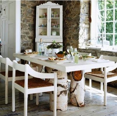 DIY Birch Decor and Table