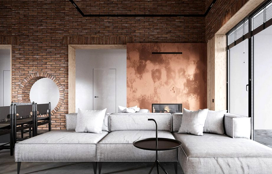 Copper Infused Industrial Model Residence