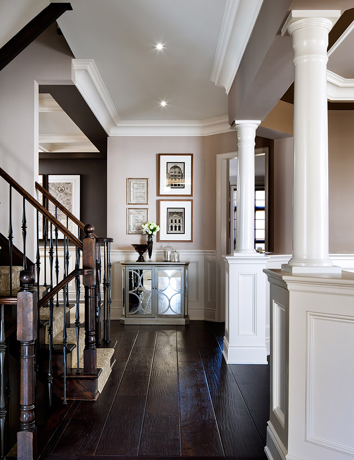 Dark Wood Foyer Decor