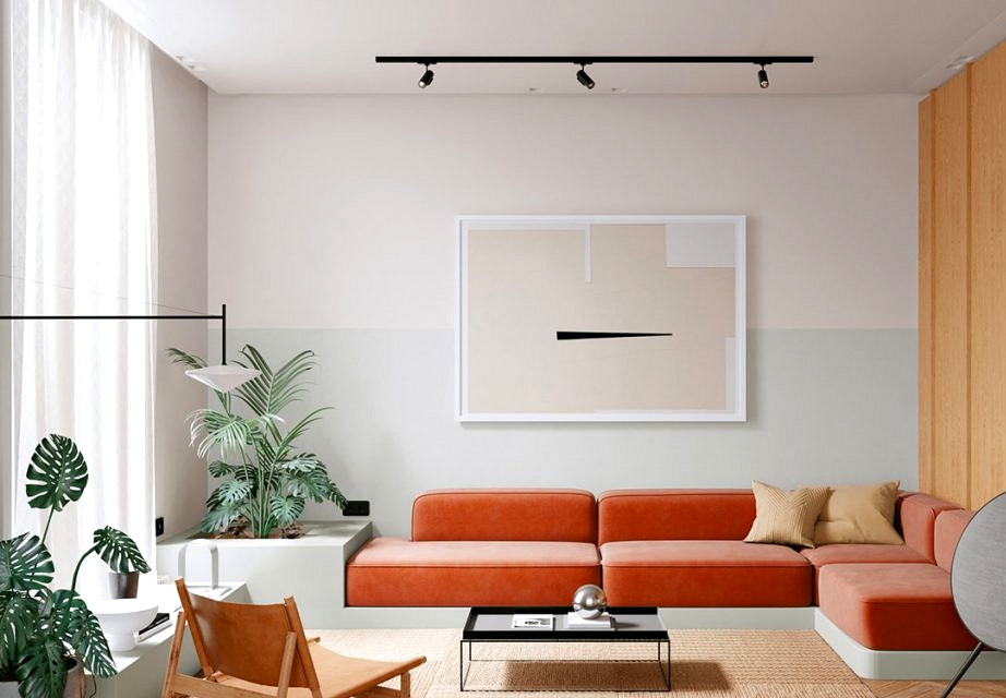 Contemporary, Shiny & Colourful House Interiors With Botanical Vibes
