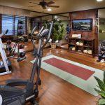 Mediterranean home gym design idea