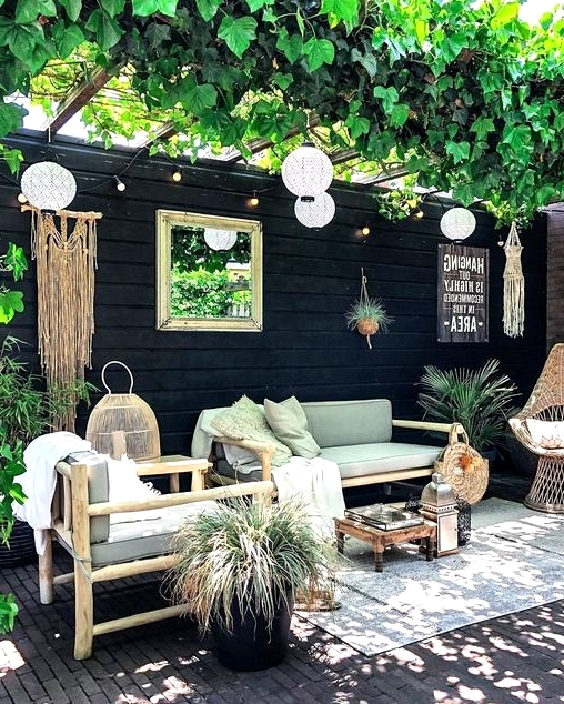 An outdoor living room filled with charm.