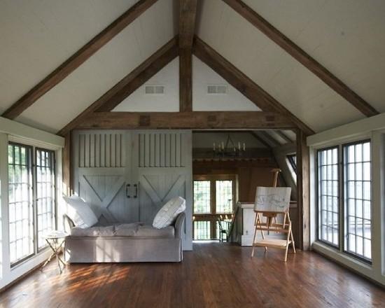 Traditional Wood Yoga Room